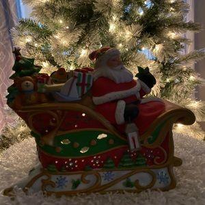 Partylite Santa's Sleigh Ride Tea Light Holder
